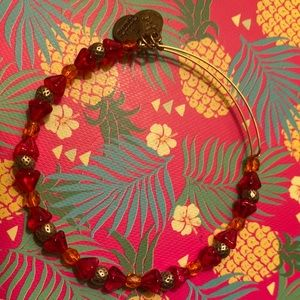 Alex and Ani Red and Orange Bracelet